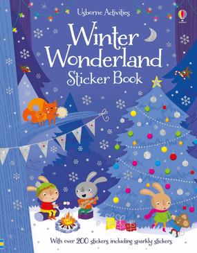 winter wonderland sticker book, front cover