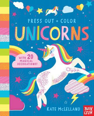 press out and color unicorns