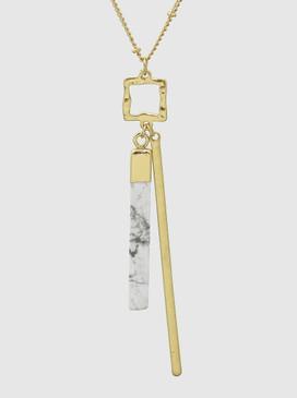 metal natural stone pendant, howlite