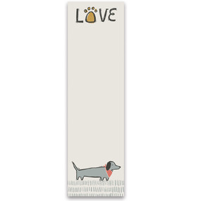 love dog list note pad
