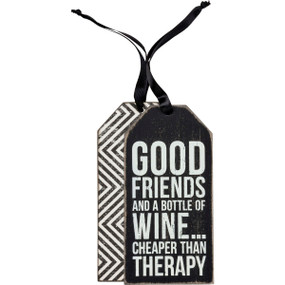 cheaper than therapy bottle tag