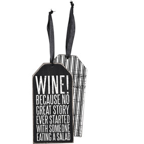 wine because bottle tag