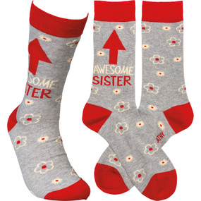awesome sister womens socks