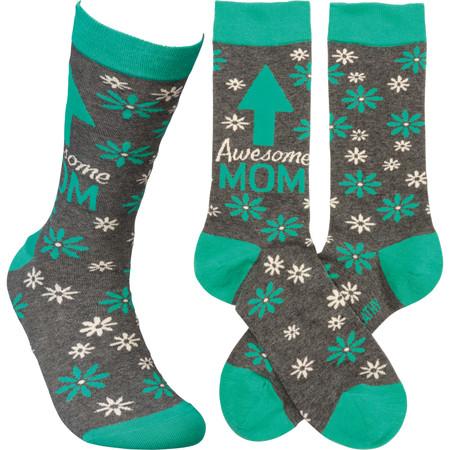 awesome mom womens socks