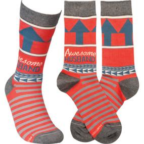 awesome husband mens socks