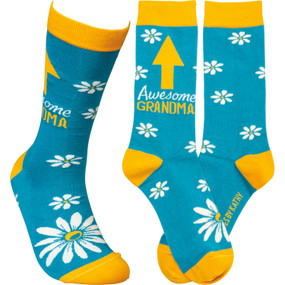awesome grandma womens socks