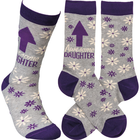 awesome daughter womens socks