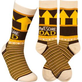awesome dad mens socks