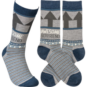 awesome boyfriend mens socks