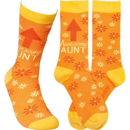 awesome aunt womens socks