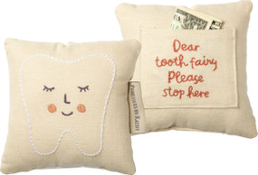 tooth fairy pink pillow