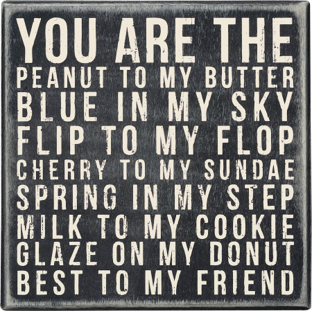 you are the peanut box sign