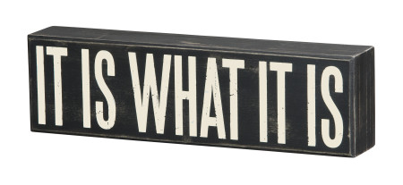what it is box sign