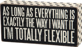 totally flexible box sign
