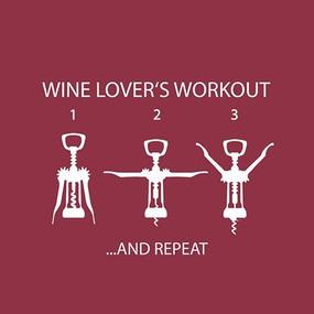 cocktail napkin, wine, workout, wine opener