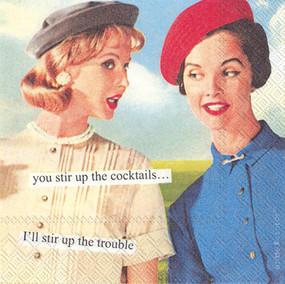 stir up trouble cocktail napkins