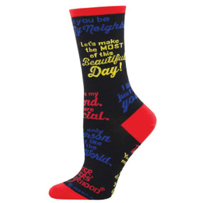 mr. rogers quotes womens socks
