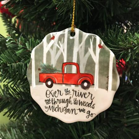over the river michigan ornament