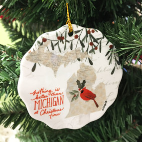 michigan christmas ornament