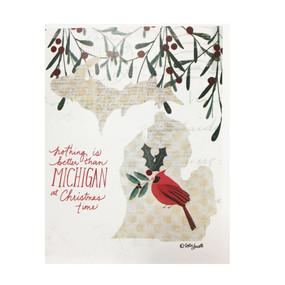 michigan christmas holiday card cardinal