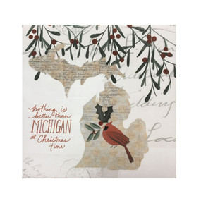 michigan christmas coaster