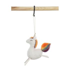 wool felt unicorn ornament