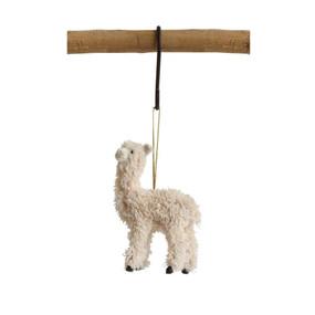 furry llama ornament