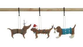 wool felt dog ornament (assorted)