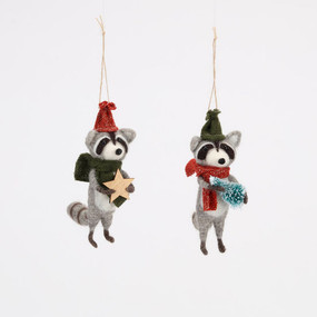 raccoon ornament (assorted)