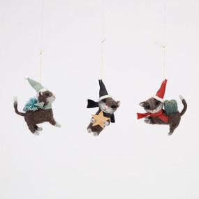 wool cat ornament