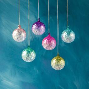glitter ombre globe ornament (assorted)