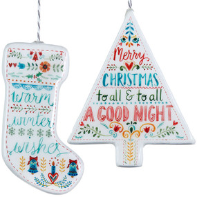 tree and stocking ornament (assorted)