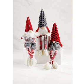 christmas dangle leg gnomes (assorted)