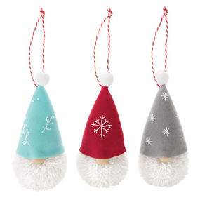 gnome pom pom ornament (assorted)