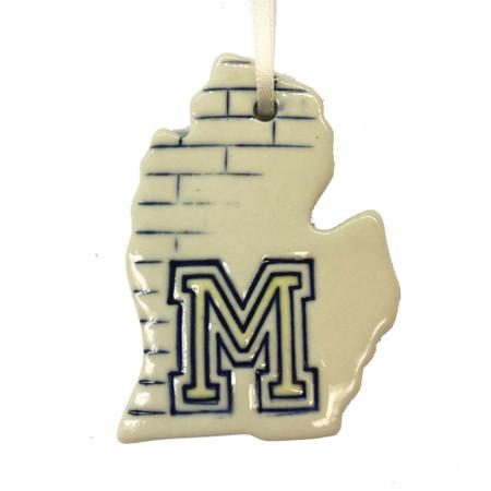 U of M michigan ceramic ornament