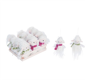 plush merry llama ornament (assorted)