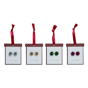 christmas bow earrings (assorted)