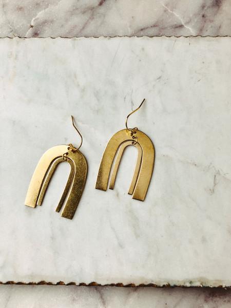 small rainbow earrings