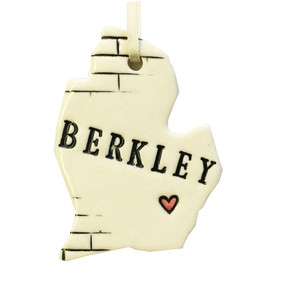berkley, michigan ceramic ornament