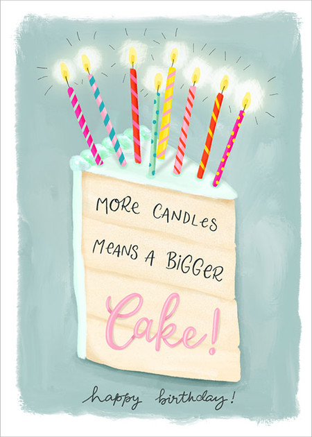 """candles birthday card, 5"""" x 7"""" Printed on FSC certified board. Each card is cello wrapped and includes a kraft envelope."""