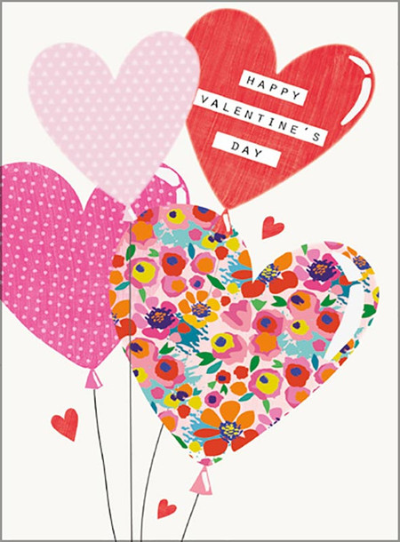 "valentine's day card, hearts, Size: 4-3/4"" x 6-3/4"", embellished with embossing and spot varnishing, individually cello wrapped and includes a printed envelope."