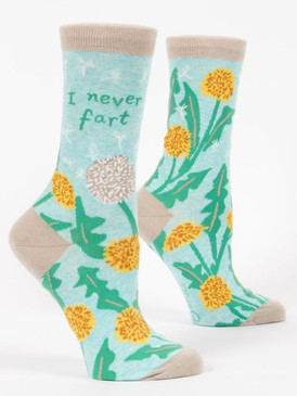 socks, fart, lying, funny, women's shoe size 5-10. 58% nylon; 40% combed cotton; 2% spandex.