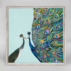 mini frame canvas, peacock, home decor