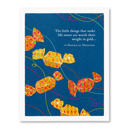 greeting card, birthday, little things, FSC®-certified, 100% post-consumer recycled paper
