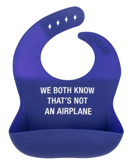 "Bib, baby, airplane, silicone, waterproof, rolls up, BPA-free and PVC-free, dishwasher safe,  Size: 11""L x 9""W"