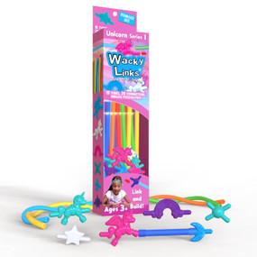 Unicorns, wacky, 15 connectors, pegasus unicorns, rainbows, stars, moons,  four peg connectors, necklaces, backpack decorations, unicorns