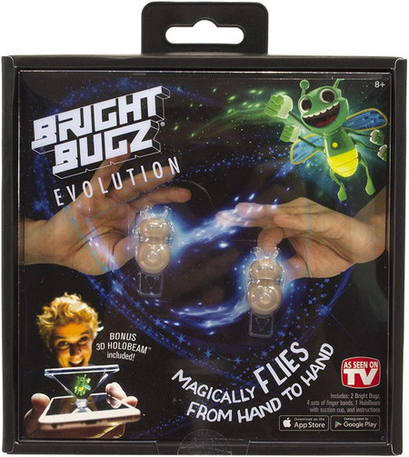 bright bugz, retro toy, glow, flying between fingers, illusion, magic kit