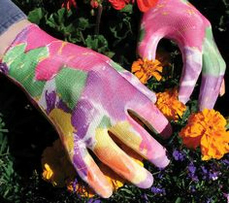 floral infusion gloves, gardening