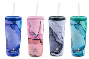 24 oz., water color bottles, double walled, vacuum insulated,hot or cold for hours, Premium Stainless Steel,high-quality, food-grade stainless steel,coated in a durable finish, fit normal sized cup holders