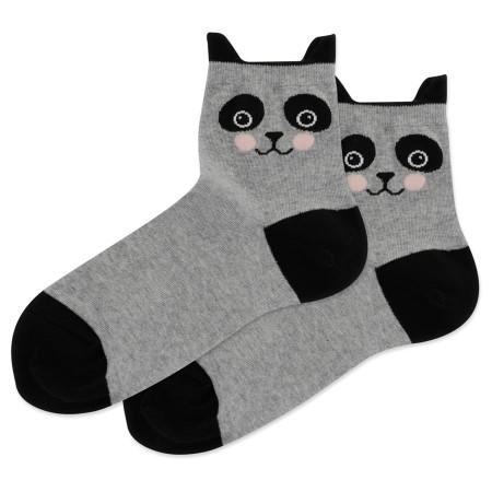 Socks, women's, panda, Fits Women's Shoe Size 4 - 10 1/2